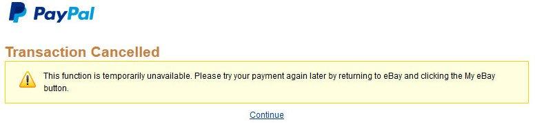 Paypal checkout error