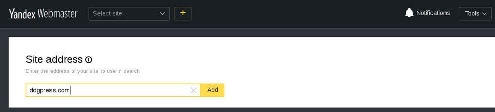 Add your WordPress Website in Yandex webmaster tools