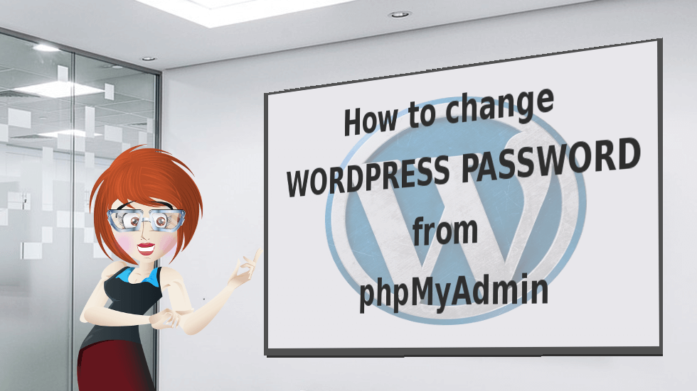 Change WordPress Password from phpMyAdmin