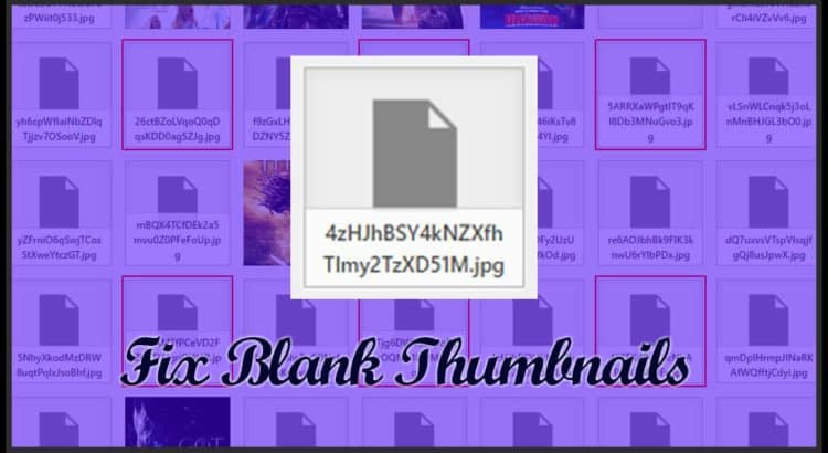 Blank Thumbnails issue