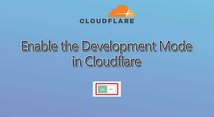 enable the Cloudflare development