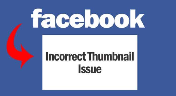 Facebook incorrect thumbnail