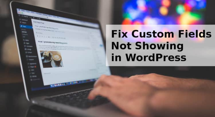 Fix Custom Fields Not Showing in WordPress