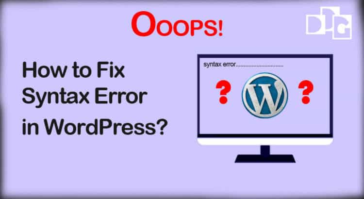 Fix Syntax Error in WordPress
