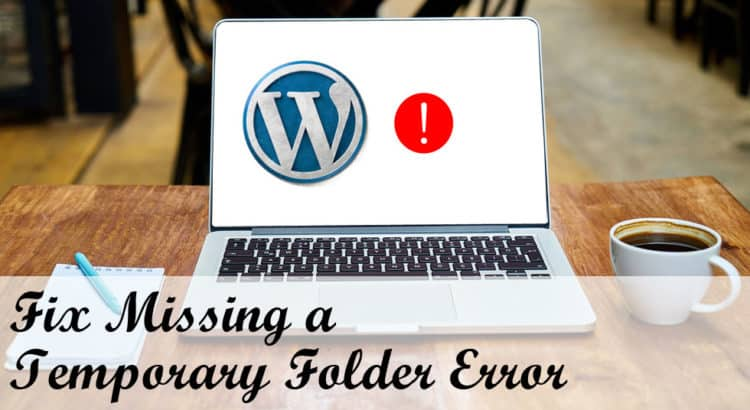 Fix Missing a temporary folder error