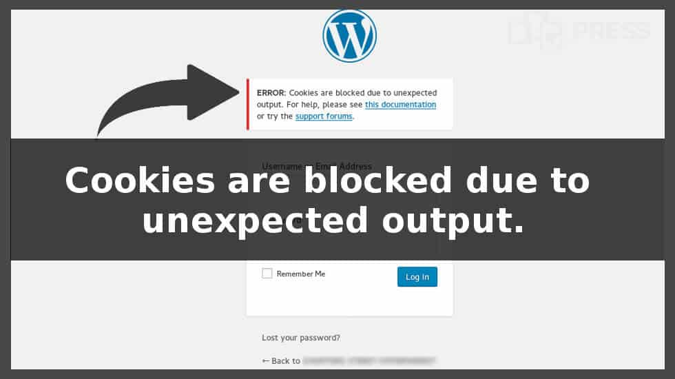 Cookies are blocked due to unexpected output