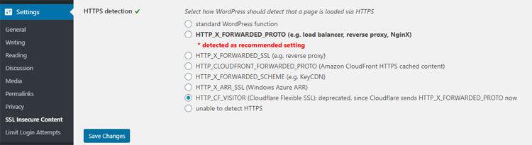 SSL Insecure content setting
